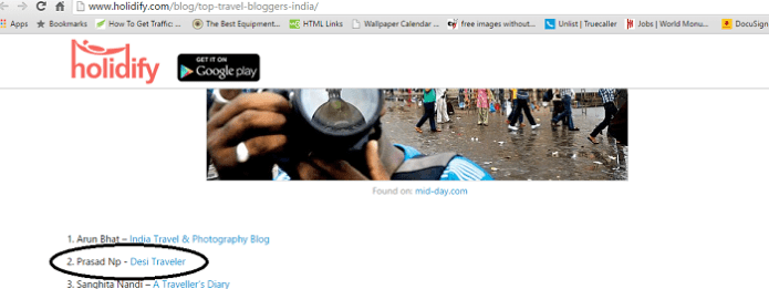 Top India Travel Blog List Holidify