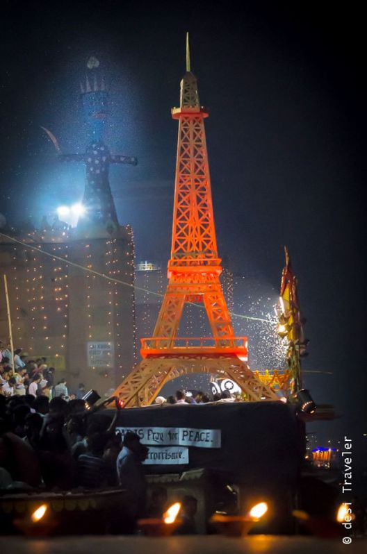 Eiffel tower Paris replica varanasi dev diwali (6)