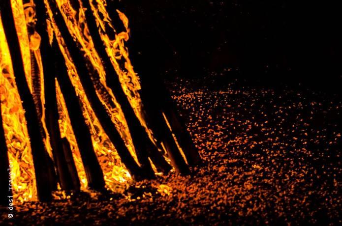 Lohri Celebrations Bonfire