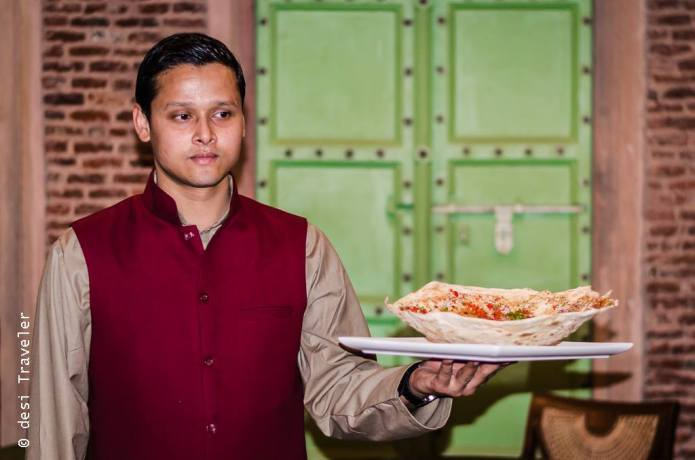 Haveli Dharampura food Kadak Rumali