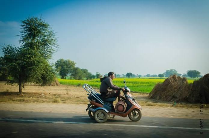 scooter highway Rajasthan Roadtrip