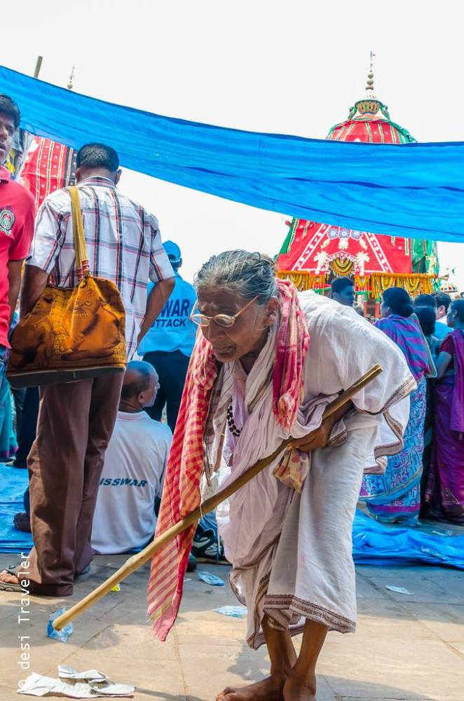 An old women at Rath Yatra Puri