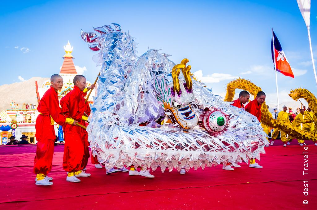 Kung Fu Nuns performing Dragon Dance