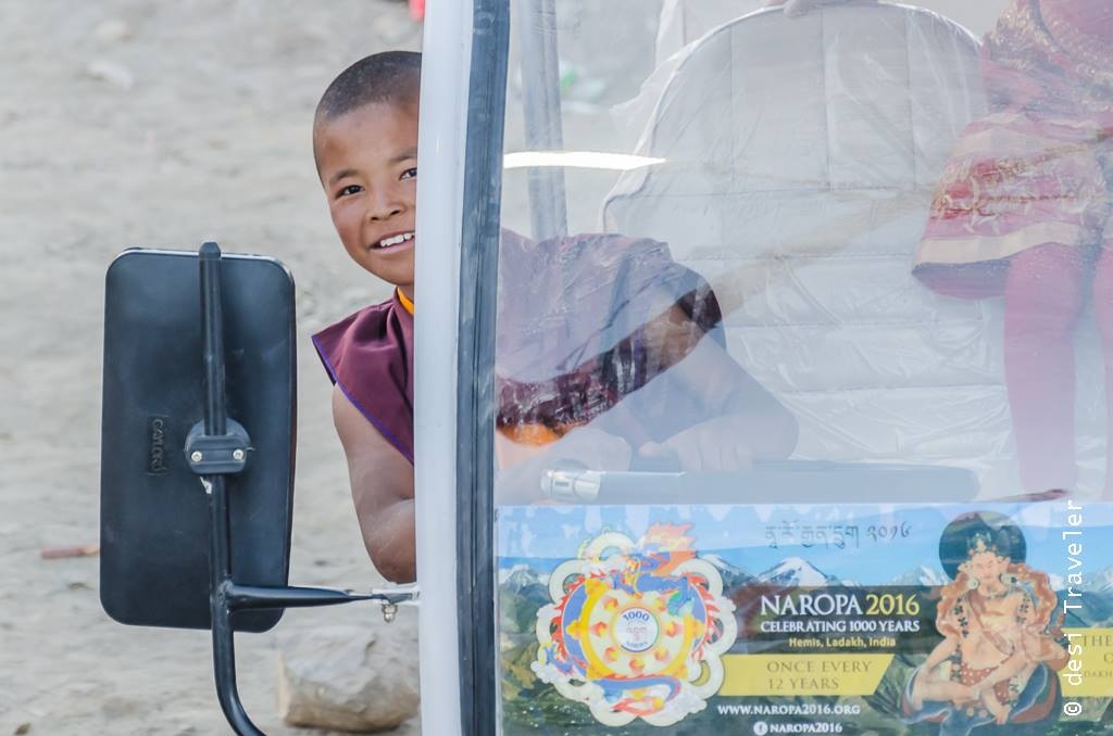 A young monk at Naropa Festival Leh