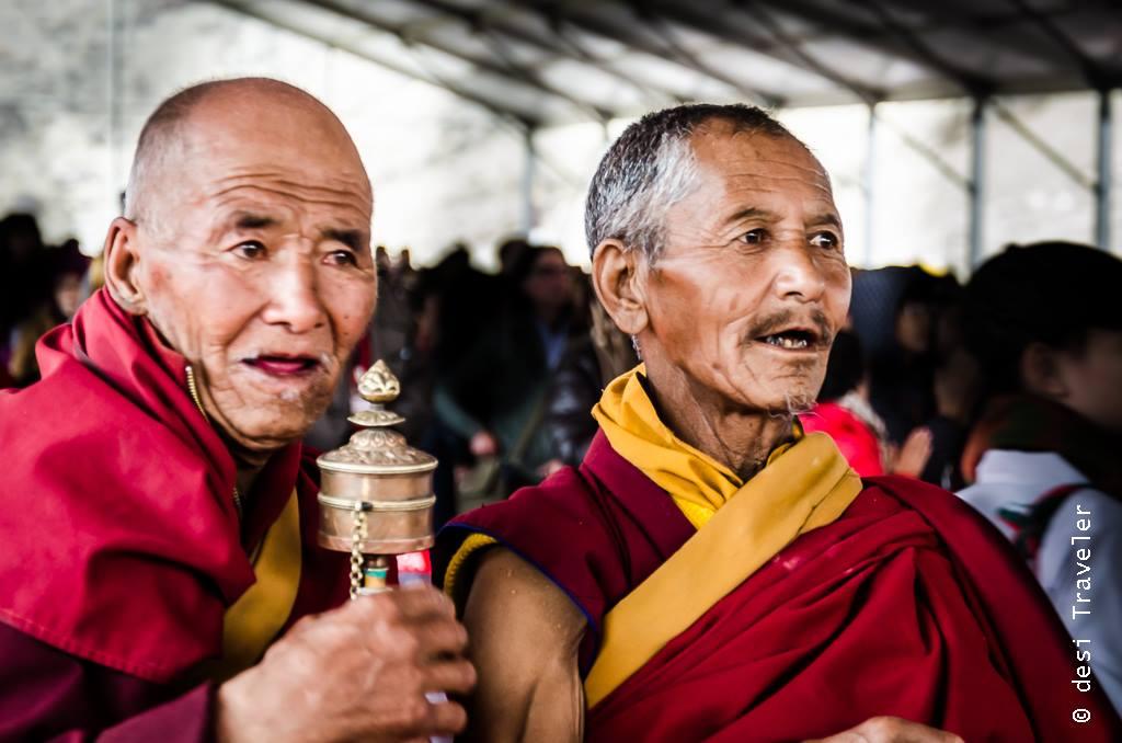 Old Monks praying in Leh