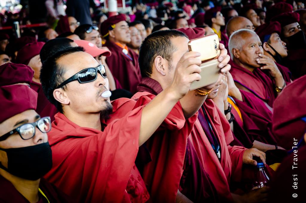 Buddhist Monk with cellphone