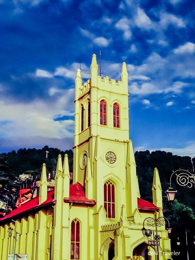 Christ Church Shimla - Must visit on a Road Trip from Delhi to Shimla