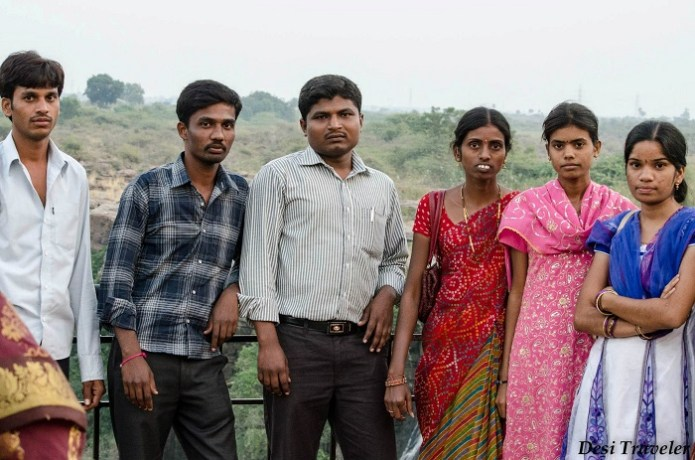 Teachers on school trip at Ethipothala waterfalls Mahbubnagar District