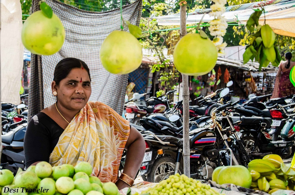 Fruit Seller Near Visa God Temple Hyderabad