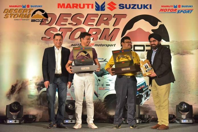 Nikunj Toshniwal and co-driver Suvrajit Dutta - Maruti Suzuki Desert Storm
