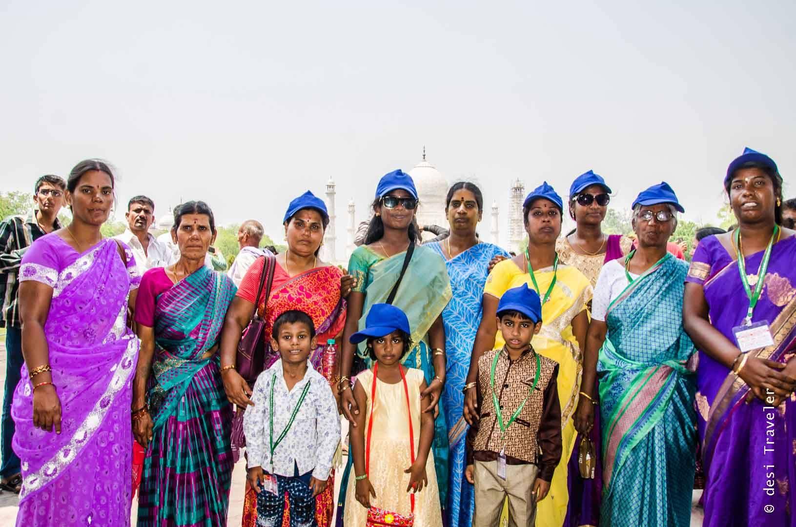 Women traveler Taj Mahal Agra