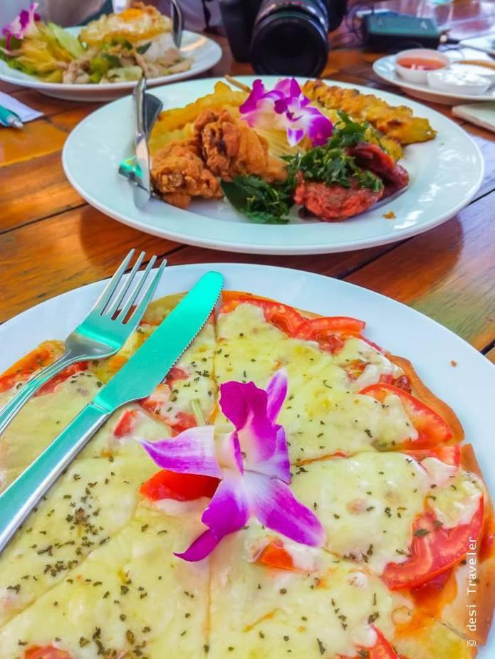 Italy Beach Bar Ko Maak Vegetarian Pizza