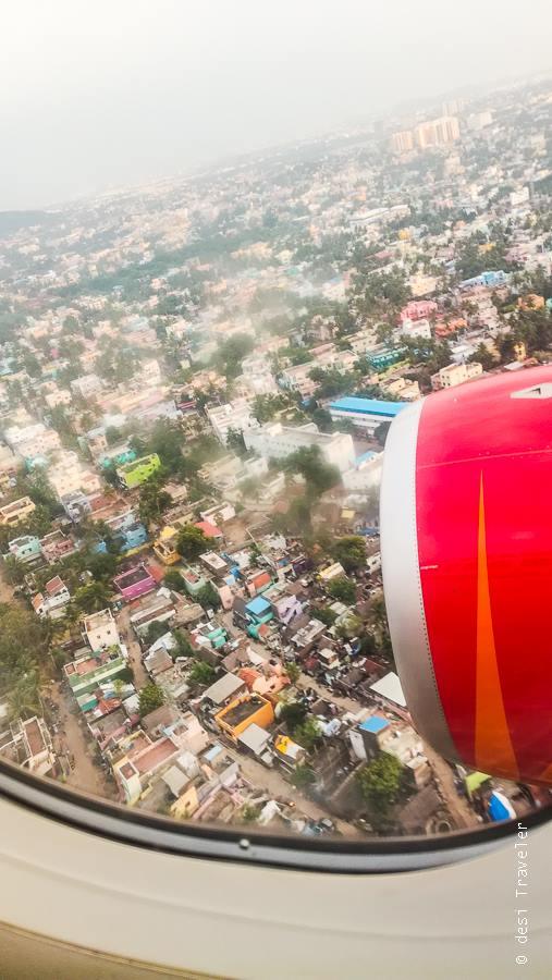 Chennai from airplane