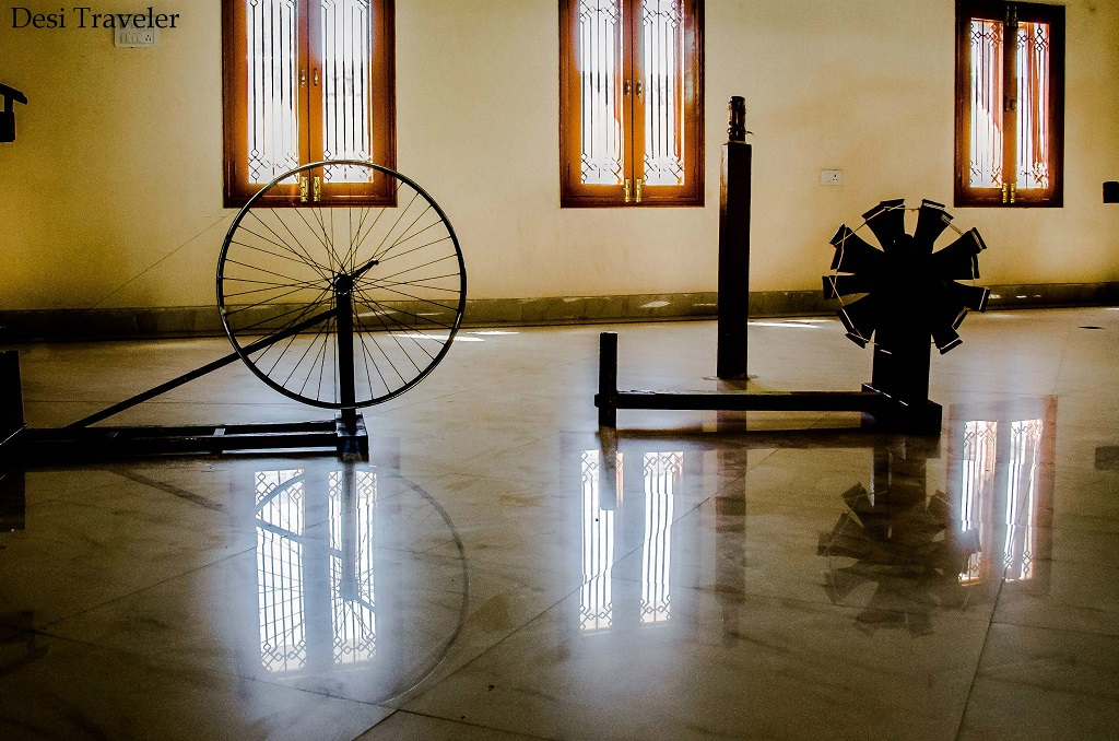 Jugaad innovation in making of weaving charkha or Spinning Wheel Pochampally