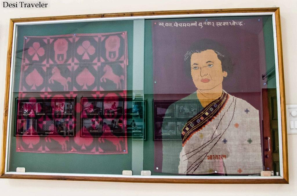 Indira Gandhi portrait in Pochampally Village Telangana
