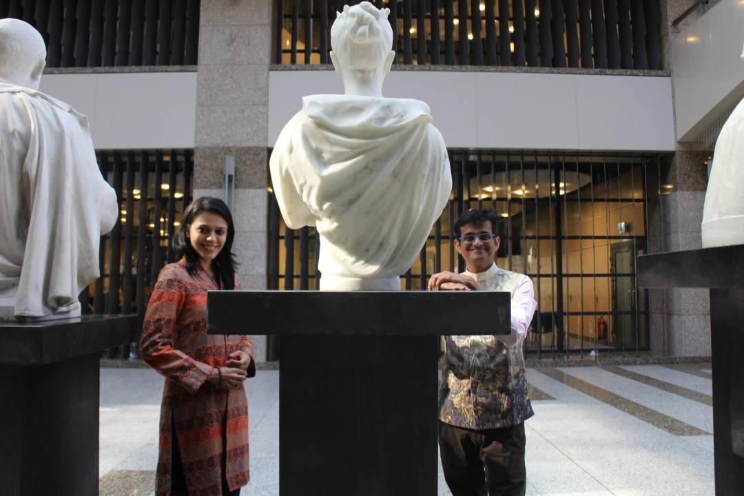 Nirali and Kartik in Parlement