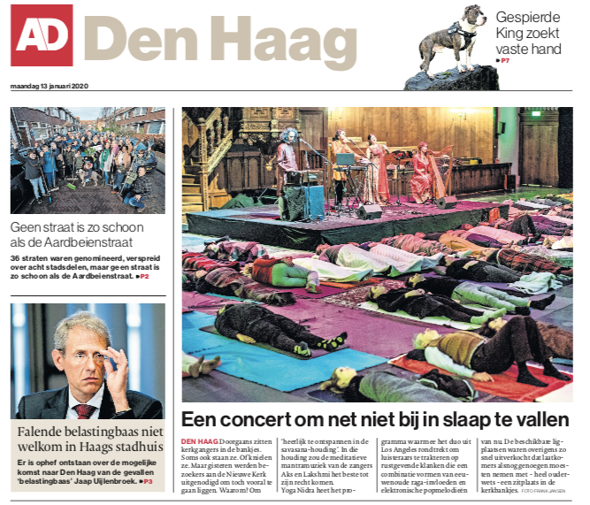 Yoga Nidra featured in the AD Den Haag