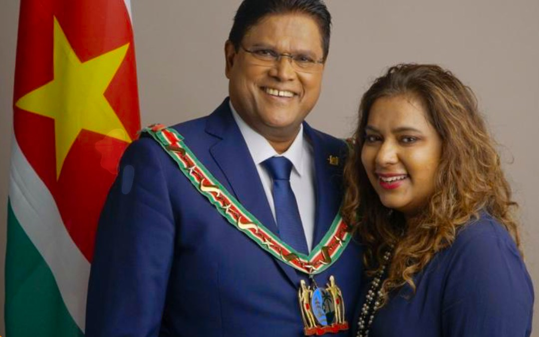 First Lady of The Republic of Suriname Mellisa Santokhi-Seenacherry