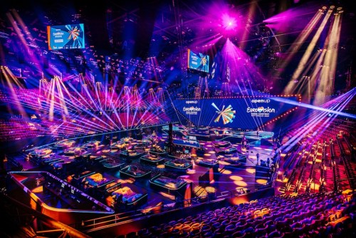 The Eurovision 2021 stage — NPO_NOS_AVROTROS NATHAN REINDS