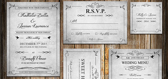 Clic Vine Wedding Invitation Package