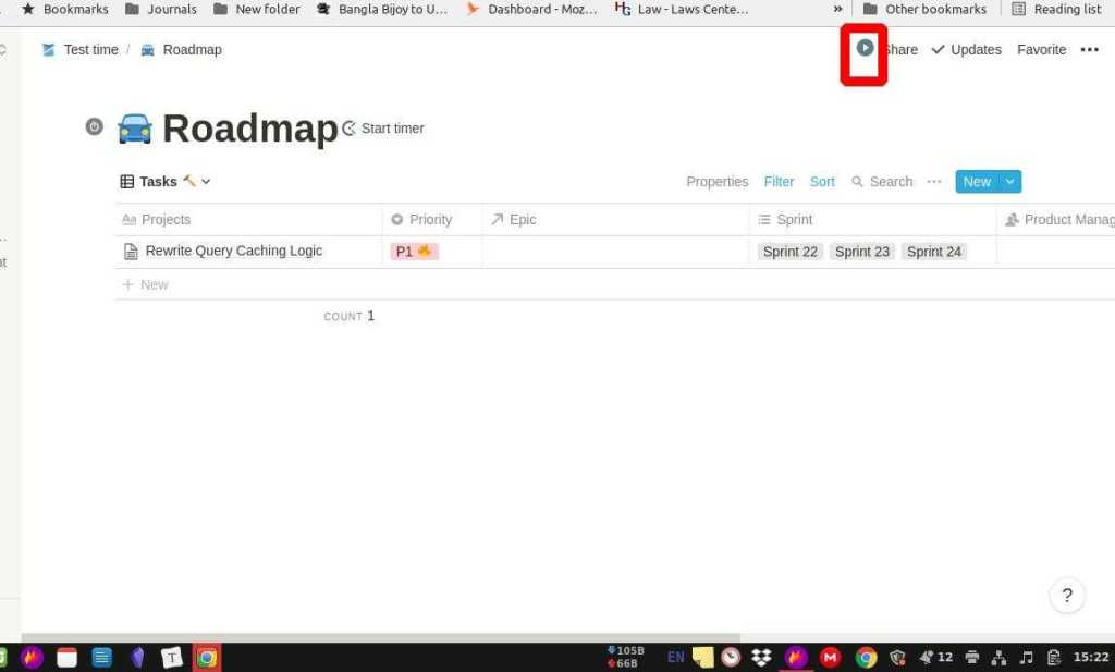 Trackingtime app In Notion