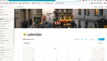 Content Calendar In Notion