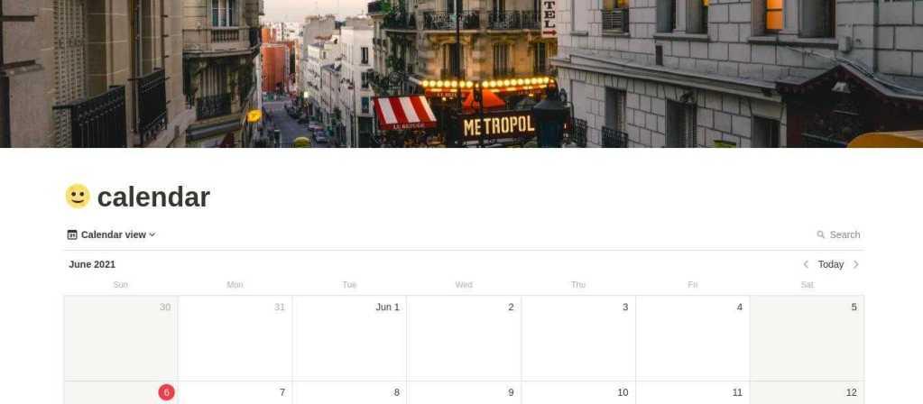 Notion Calendar Templates