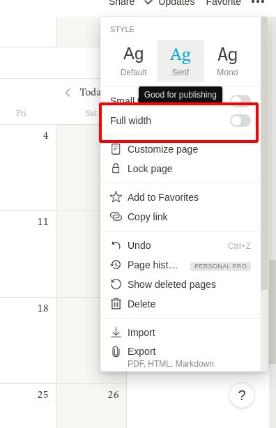 Notion inline calendar resize