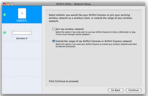 Airport Network Settings