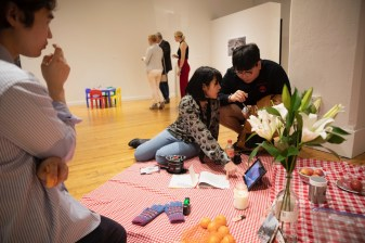 3.29.2019--The Sam Fox School of Design & Visual Arts BFA Junior Show Year-end exhibition was held at Des Lee Gallery in downtown St. Louis. Photo by Whitney Curtis/WUSTL Photos