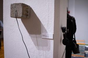 """.50 Caliber Coat Check"" by Merry Sun, BFA Show 2, Des Lee Gallery, Washington University, St. Louis, MO"