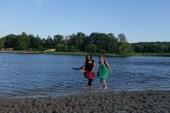 spetteren in het meer