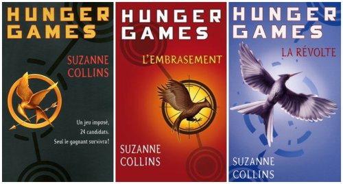 Couvertures francophones de la saga Hunger Games