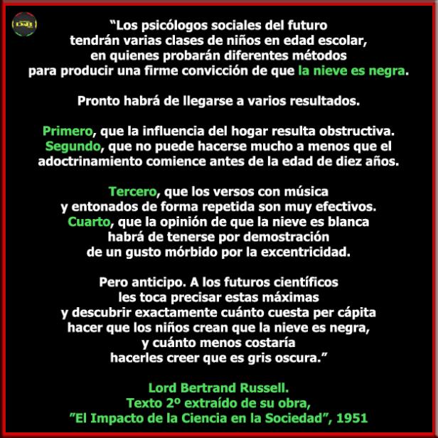Lord Bertrand Russell - El Impacto de la Ciencia en la Sociedad