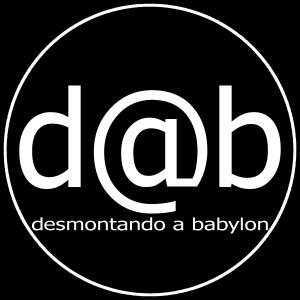 Boceto Logo DaB blanco sobre negro