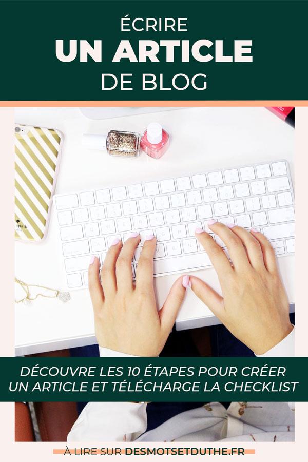 Créer un article de blog : les 10 étapes