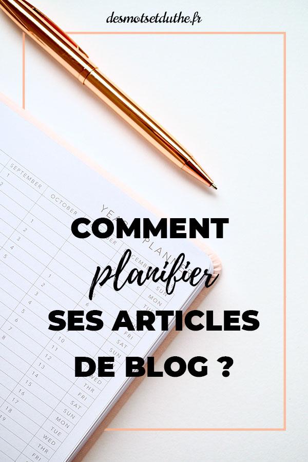 Prendre de l'avance et planifier ses articles de blog