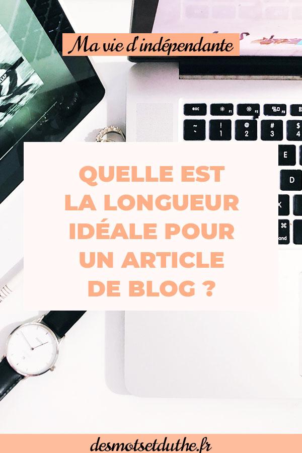 Longueur d'un article de blog : quel nombre de mots est idéal ?