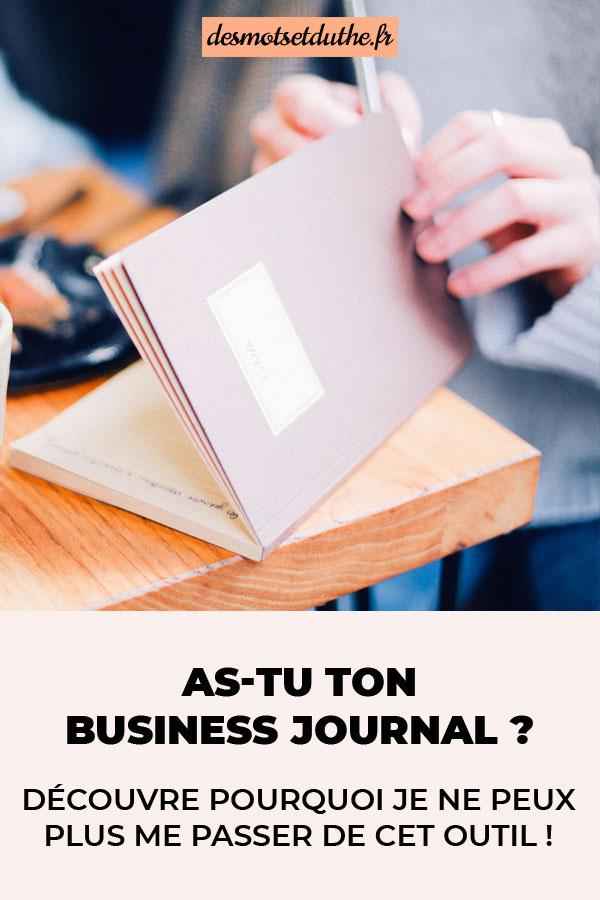 Le business journal, l'outil pour mieux entreprendre