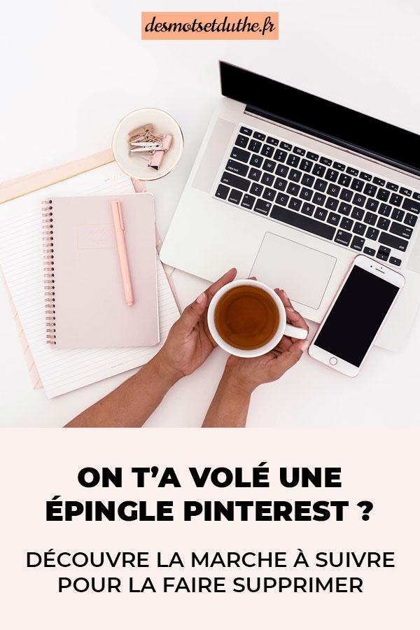 Comment faire supprimer une épingle volée de Pinterest ?