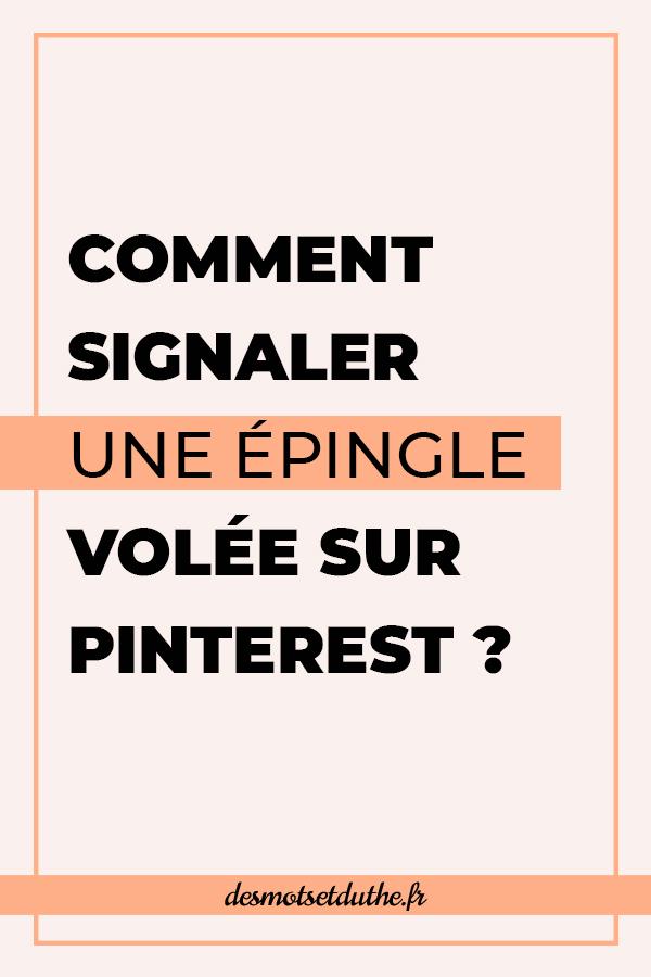 Comment signaler une épingle volée sur Pinterest ?