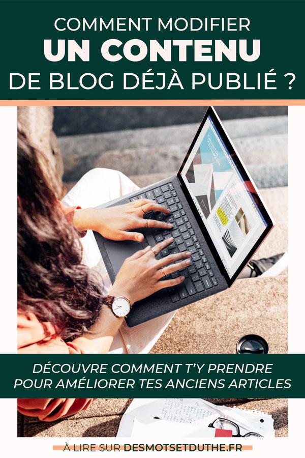 Comment modifier un article de blog déjà publié ?