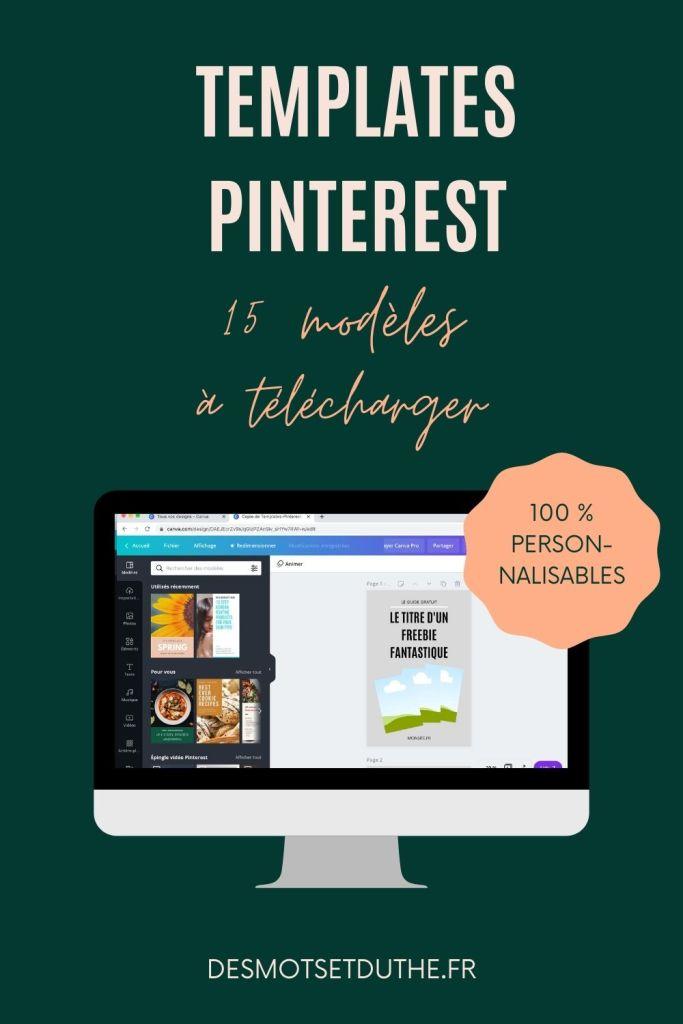Templates Canva : 15 modèles d'épingles Pinterest à télécharger.