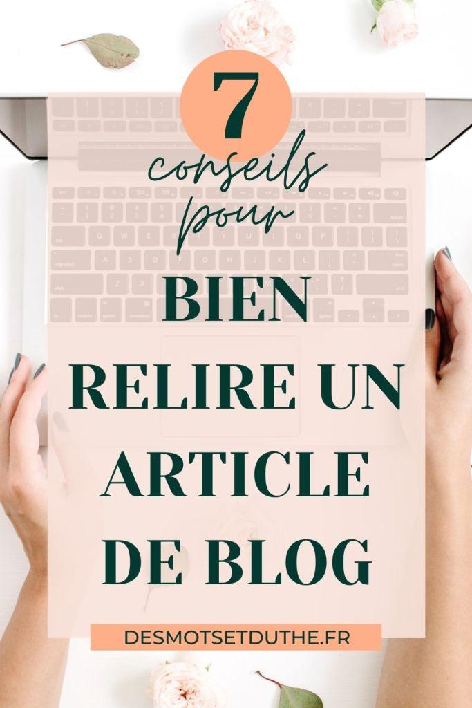 Article de blog : 7 conseils pour bien relire