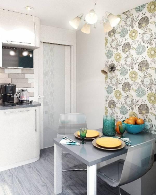 Обои для маленькой кухни 6 кв м - современные идеи 2019 года