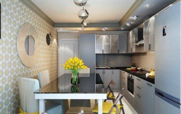 Дизайн кухни 9 кв м фото новинки 2019 года