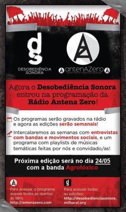 Acesse os programas inéditos na Rádio Antena Zero