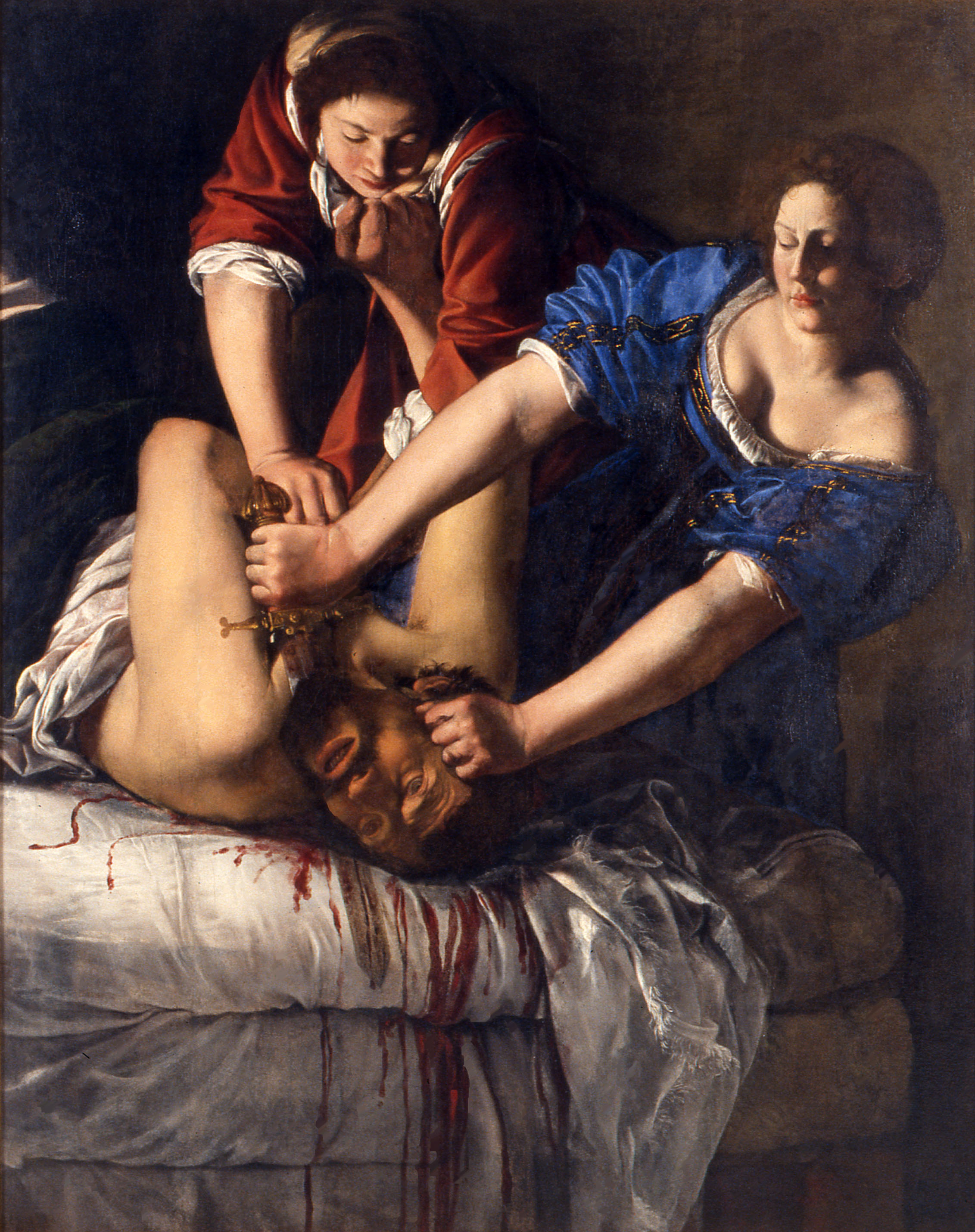 'Judit y Holofernes' de Artemisia Gentileschi (1613). M. N. di Capodimonte, Nápoles