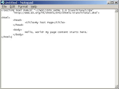 Reference: Creating an XHTML Document in 4 Steps