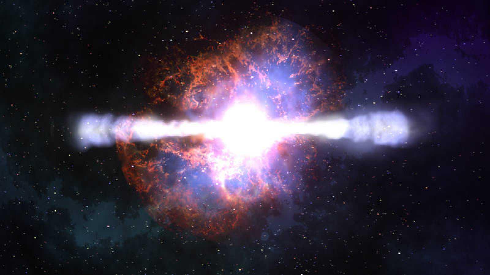 Estallido de rayos gamma de una supernova